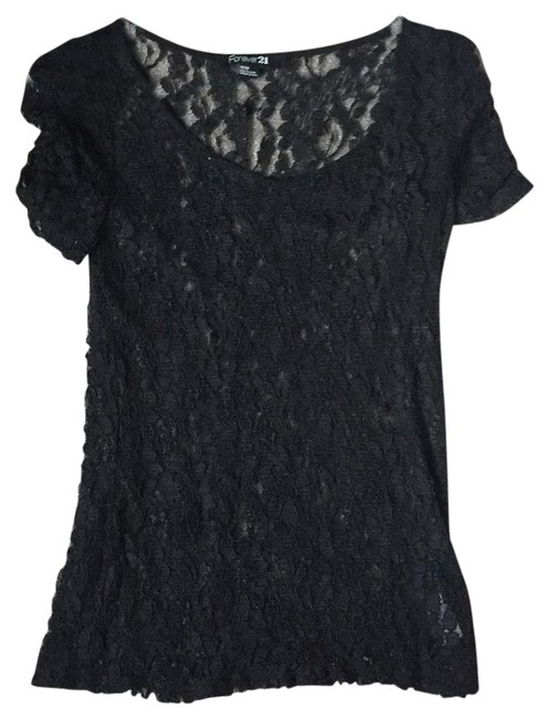 Preload https://img-static.tradesy.com/item/20887380/forever-21-lace-black-top-0-1-650-650.jpg