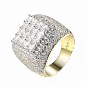 Other Princess Cut Solitaire Ring Full Iced Out Wedding 14k Gold Over 925