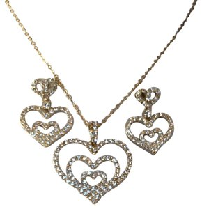Other Nolan Miller Crystal Hearts Set