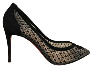 Christian Louboutin Neoalto Stiletto Lace Mesh Suede black Pumps