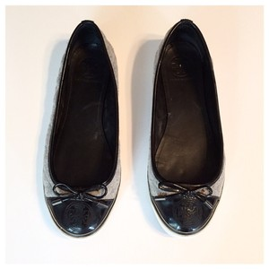Tory Burch Black and Grey Flats