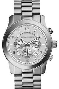Michael Kors Michael Kors Men's Oversized Silver Steel Chronograph Watch MK8086