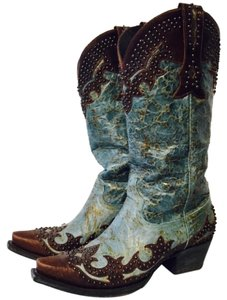 Lane Boots Brown & turquoise Boots
