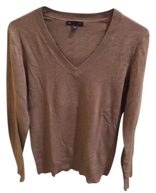 Preload https://img-static.tradesy.com/item/20887681/gap-light-brown-v-neck-cotton-sweaterpullover-size-4-s-0-1-650-650.jpg