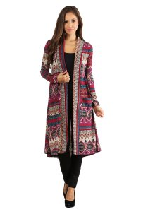 Aris Tribal Long T9194 B06x6fd34l Cardigan