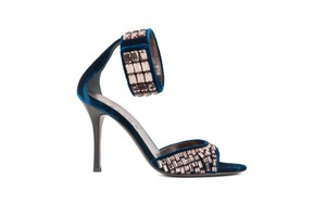 Cline Jewel Velvet Cobalt Blue Sandals