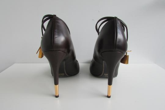 Tom Ford Dark Brown Leather Pumps