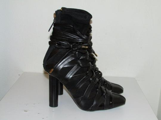 Tom Ford Black Leather Lace-Up Boots
