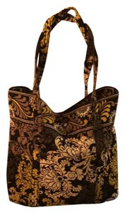 Vera Bradley Tote in Black/White/Yellow