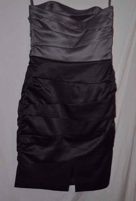 White House | Black Market Ruched Strappy Bodycon Strapless Belted Dress