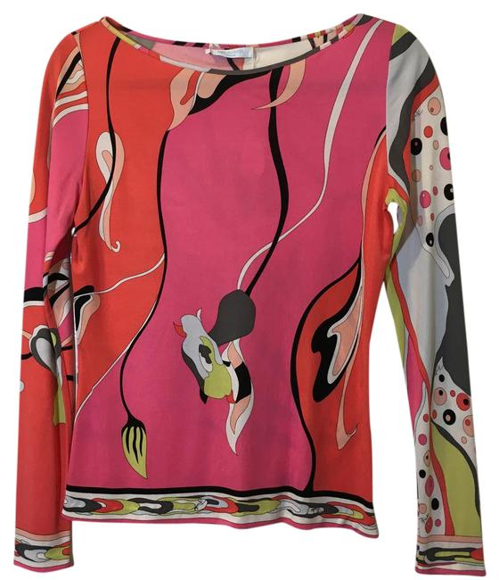 Preload https://img-static.tradesy.com/item/20888104/emilio-pucci-multi-color-patterned-silk-blouse-size-6-s-0-1-650-650.jpg
