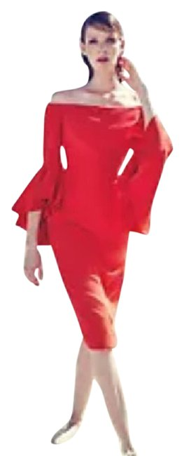 Item - Red Cady Selena Mid-length Cocktail Dress Size 0 (XS)