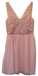 Suzi Chin for Maggy Boutique Sleeveless Lace Trim Dress
