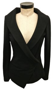 Donna Karan Label Jacket Tapered Black Blazer