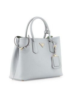 Prada Tote in Gray/Green (Granito/Acquamarina)