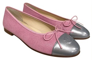 Chanel Leather Ballerina Ballet pink Flats