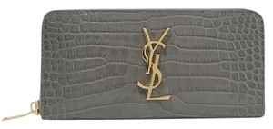 Saint Laurent Wallet Ysl Ysl Wallets Gray Clutch