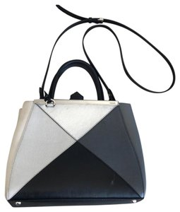 Fendi Satchel in Black, Silver, Gray