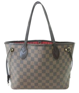 Louis Vuitton Neverfull Pm Mm Damier Ebene Tote in Brown