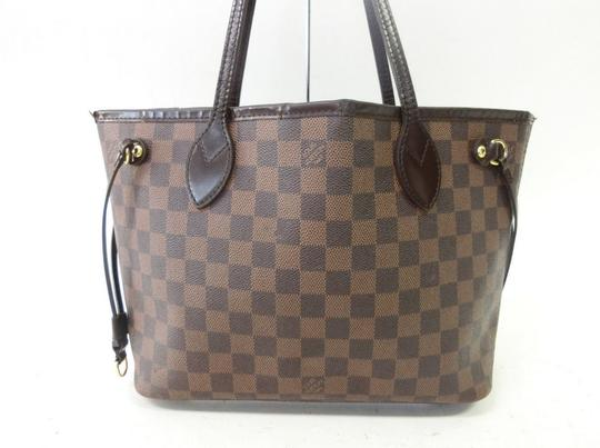 Louis Vuitton Neverfull Pm Mm Damier Ebene Tote in Brown Image 1