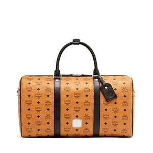 MCM Monogram Luggage Duffle Cognac Vesitos Travel Bag