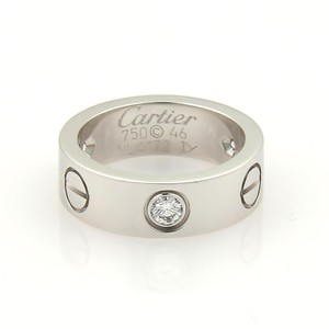 Cartier Cartier Love 3 Diamonds 18k WGold 5.5mm Band Ring Size EU 46-US 3.75