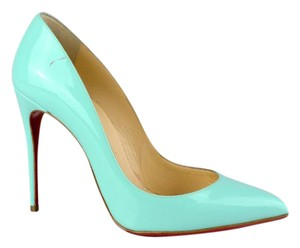 Christian Louboutin Red Bottoms Aqua Pumps