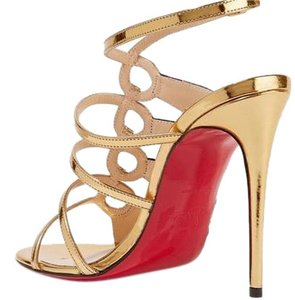Christian Louboutin So Kate Red Soles Tina Louboutins Black/Gold Sandals
