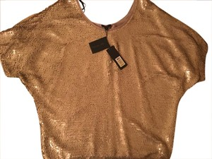 Rachel Zoe Sequin Top gold
