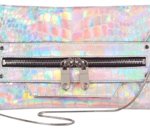 MILLY Silver, Holographic Clutch