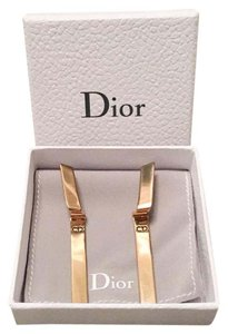 Dior In Stores Dior Wave Dangle Drop Gold Earrings