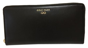 Cole Haan Cole Haan Black Leather Zip Around Wallet - New With Tags