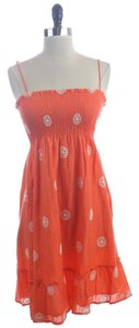 J.Crew short dress Orange White Embroidered Medallion Alexa on Tradesy