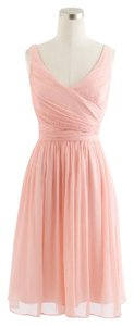 J.Crew Silk Chiffon Wedding Pink Dress