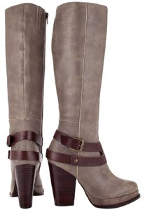 Seychelles Stacked Heel Leather Stone Boots