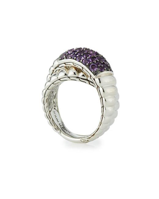 Item - Amethyst and Silver W Bedeg Lava Crossover W/ Ring