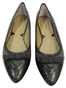 Adrienne Vittadini Brand New Size 9.50 M Padded Footbed Excellent Condition Gray, Black Flats