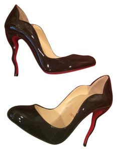 Christian Louboutin Heels Patent Leather Wawy Dolly Squiggly Black Pumps