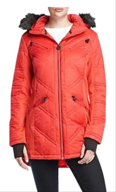 Item - Crimson Faux Quilted Coat Size 10 (M)