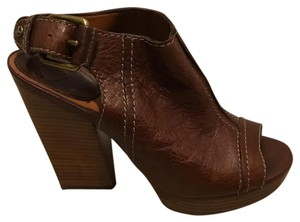 Lucky Brand Brown Mules