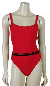 La Blanca LA BLANCA red and black one piece swimsuit size 10 TallA