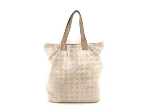 Chanel Quilted Canvas Leather Tote in Beige