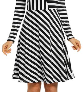Angvns short dress Black and white on Tradesy