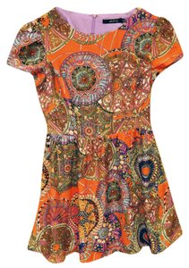 Ark & Co. short dress Orange Pattern Print Retro on Tradesy