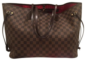 Authentic LV Neverfull GM Damier Ebene Tote Tote in Brown