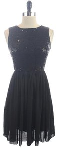 Max and Cleo Sequin Sleeveless Cocktail Lbd Dress