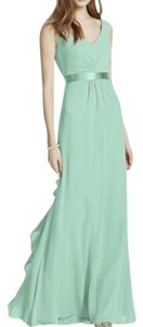 David's Bridal Mint Green F15530 Dress