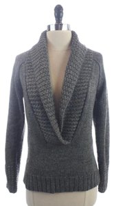 Ann Taylor LOFT Drak Chunky Knit Alpaca Blend Shawl Collar Sweater