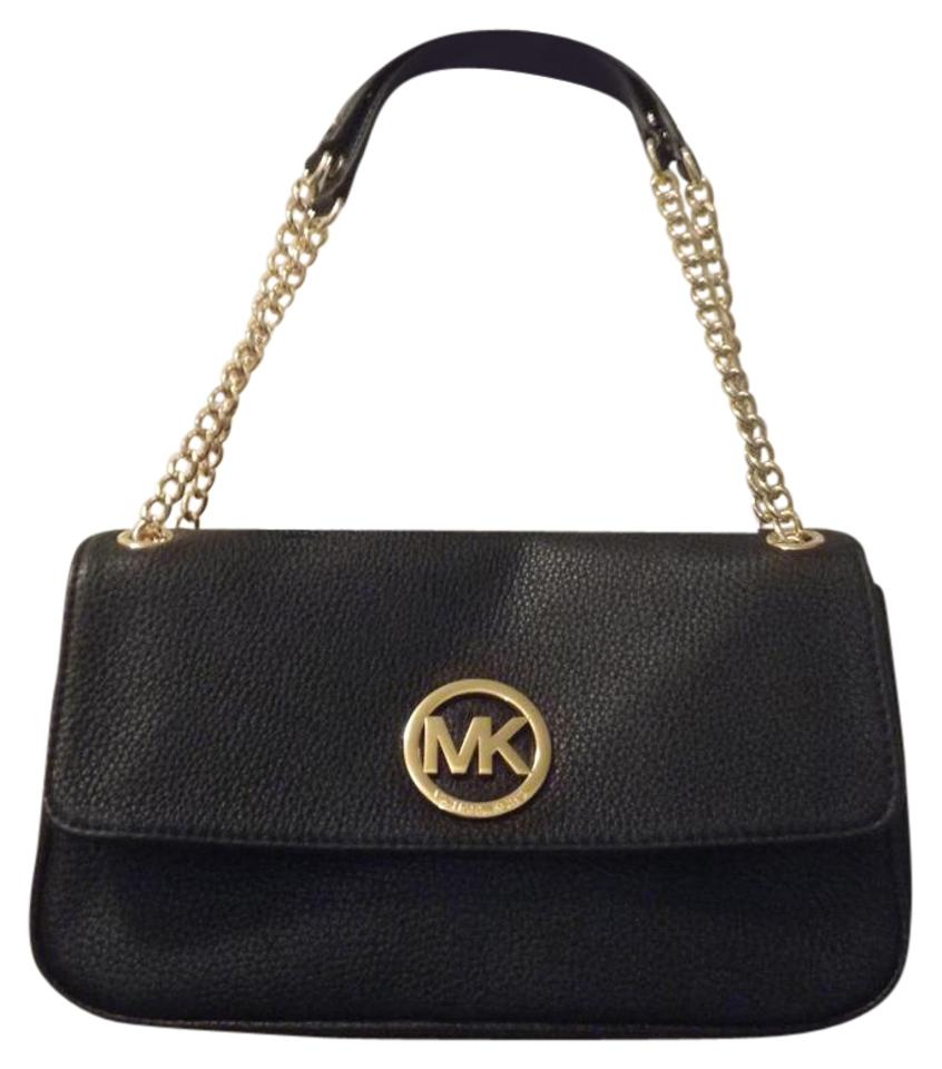 731672b3498751 Michael Kors Leather Pebbled Gold Hardware Classic Shoulder Bag Image 0 ...