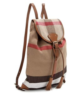 Burberry Canvas/leather Trim Backpack